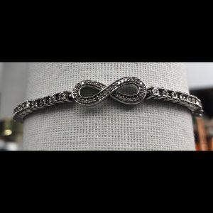 Diamond drawstring bracelet